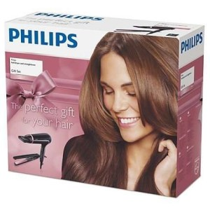Phillips hair dryer & straightener set