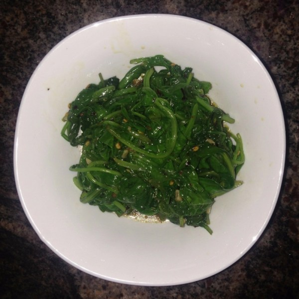 sauteed spinach with pine nuts and garlic
