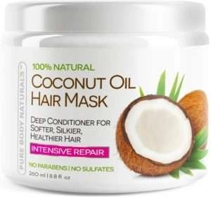 pure body naturals coconut Oil Hair Mask