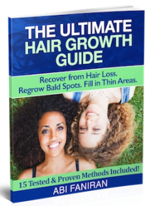 The Ultimate Hair Growth Guide for Hair Loss, Bald Spots and Thin Hair