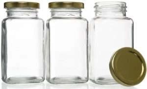Screw-On Airtight Lids Glass Jars