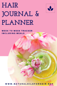 Hair Dairy & Planner - Natural Oils for Hair and Health