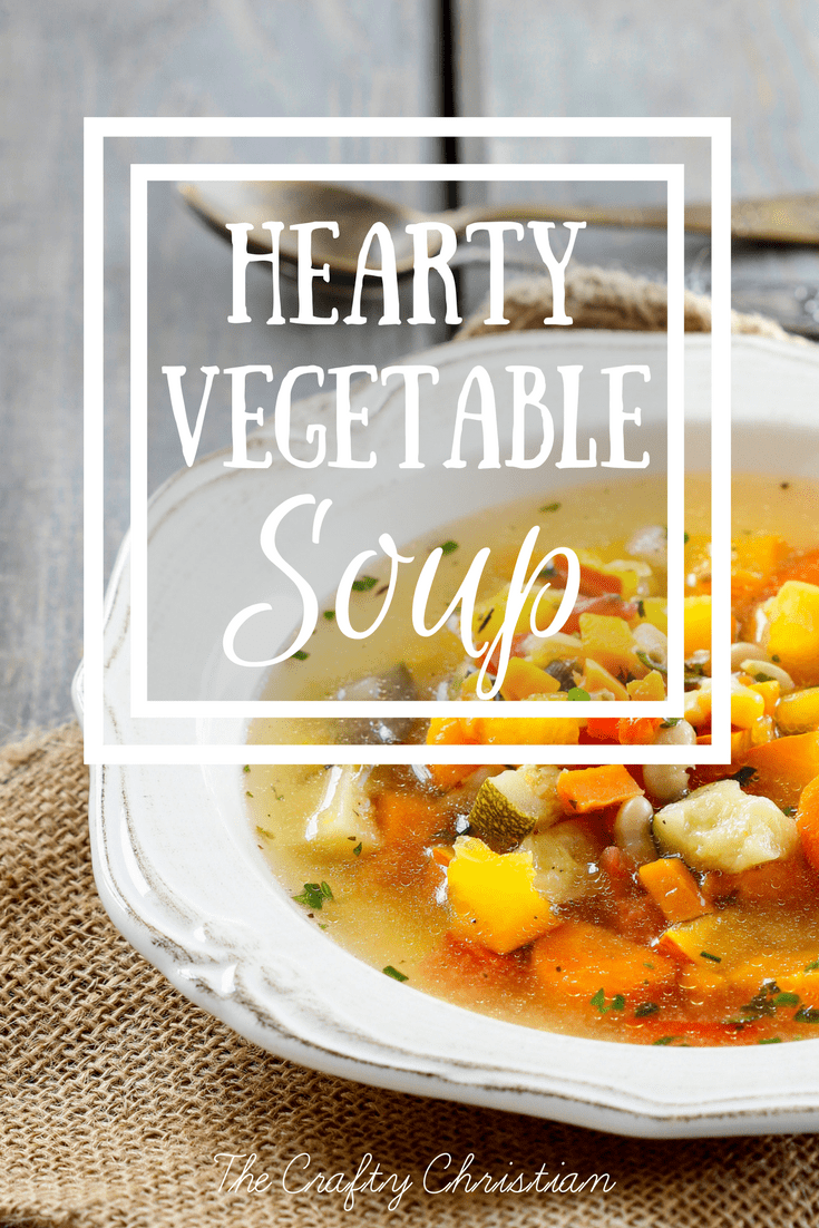 Anyone else have a hard time getting all of their veggies in every day? This soup is the perfect way to unload veggies that are about to expire, and it's SO filling and YUMMY too! Check out this hearty vegetable soup, y'all!