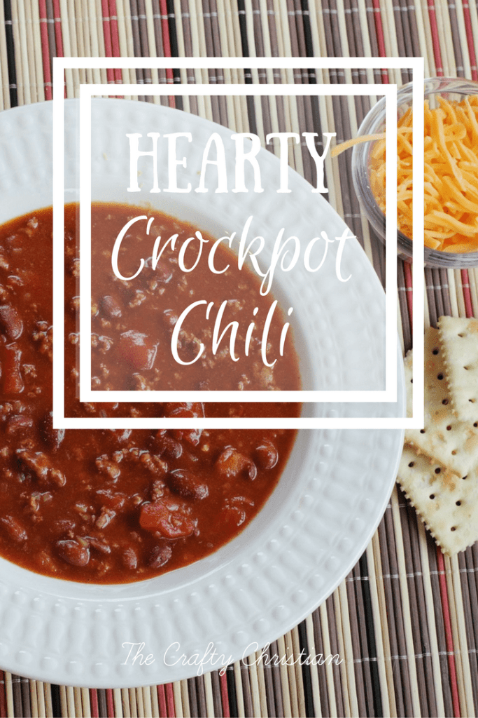 It's finally cooling down outside, and that means it's time for nice, warm comfort foods! One of my all time faves is hearty crockpot chili. Try this recipe, you'll thank me!