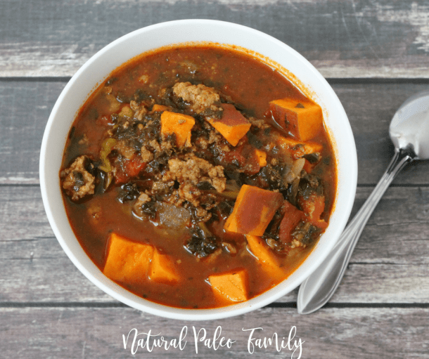 If you've recently started on the Whole30, you might be wondering what you can eat. Trust me, it's not as hard as it seems! This sweet potato whole30 chili will warm your belly, please your family, and have you begging for more!