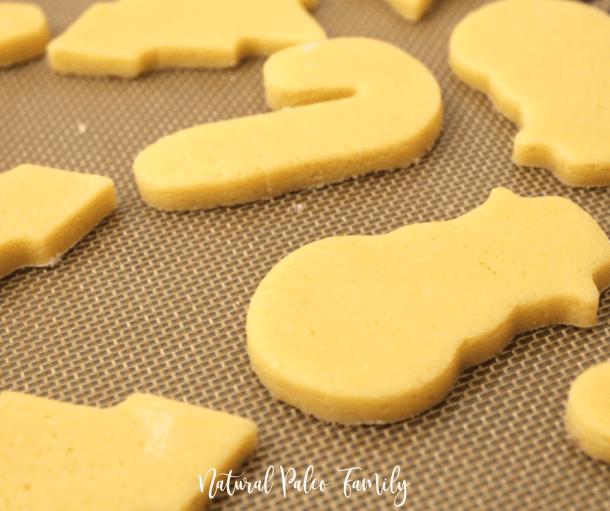 paleo cutout christmas cookies, keto christmas cookies ready to bake