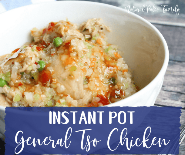 If you're wanting to indulge in your favorite Chinese food dish, but don't want the junk and calories that come with it, try this Paleo General Tso's Chicken!  It can even be made in the Instant Pot!