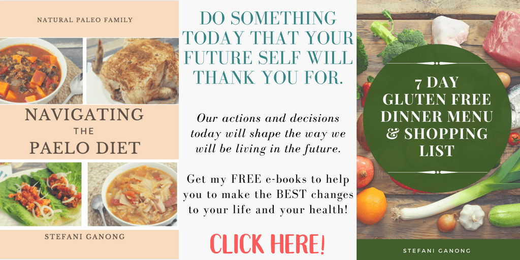 Navigating the Paleo Diet free e-book offer including a 7 day gluten free dinner menu and shopping list