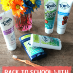 """Every year around July, the stores start coming out with the """"Back to School"""" deals, new school supplies, and endless reminders that our summer is quickly winding down. This year is no exception. But beyond the new clothes, shoes, and classroom supplies, there are other ways to get ready for the new school year that we often don't think about. We're starting the school year with a smile this year, with Tom's of Maine!"""