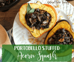 Filling our holiday meals with delicious, yet quality dishes such as this portobello stuffed acorn squash can help us to feel satisfied while making healthy choices this holiday season!