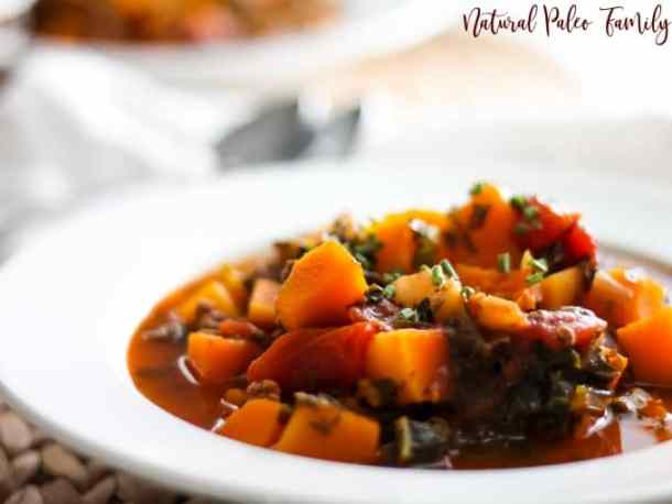 white bowls with sweet potato chili
