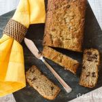 gluten free chocolate chip banana bread slices