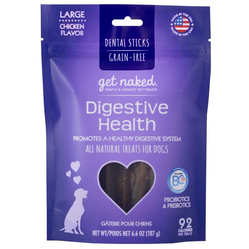 Get Naked Digestive Health GrainFree Dental Chew Sticks