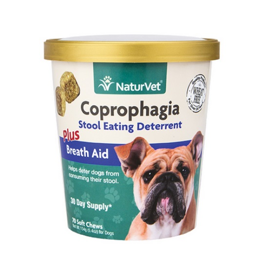 NaturVet Coprophagia Stop Eating Poop Soft Chews for Dogs