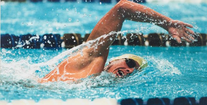 staying in shape with swimming