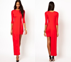 ASOS Maxi Dress with High Low Side Valentines day inspiration