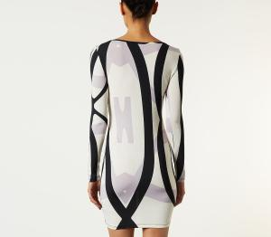 GEO STRIPE BODYCON DRESS Topshop