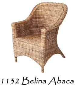 Belina Wicker Chair Abaca