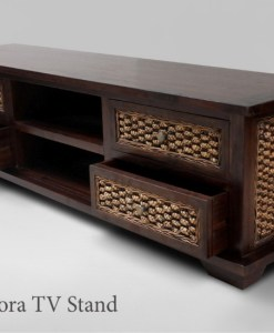 Zalora Wicker Wooden TV Stand