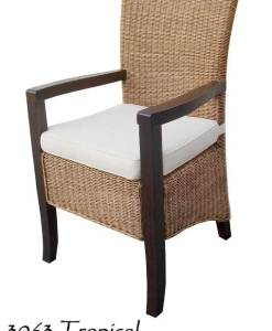 Tropical Rattan Chair with Arm