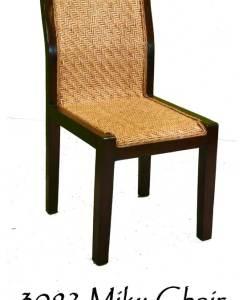 Milky Rattan Dining Chair