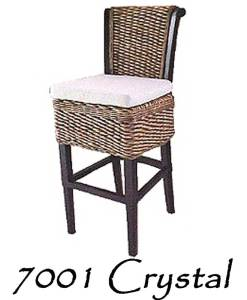 Crystal Wicker Barstool