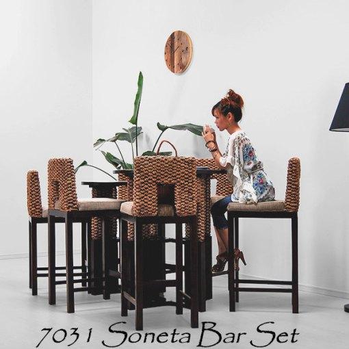 Soneta Wicker Bar Set