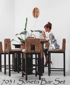 Soneta Wicker Bar Set