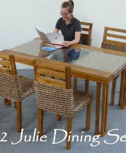 Julie Wicker Dining Set