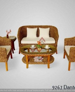 Danton Wicker Living Set