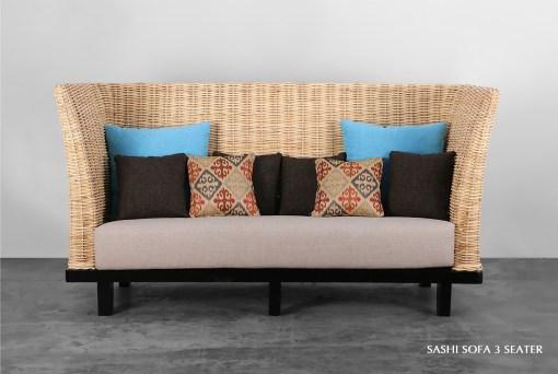 Sashi Rattan Sofa 3 Seater