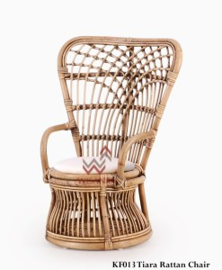 Tiara Rattan Kids Chair With Cushion