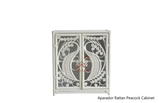 Aparador Peacock Rattan Cabinet i hvid