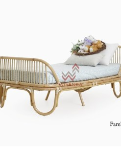 Farel Rattan Toddler Bed