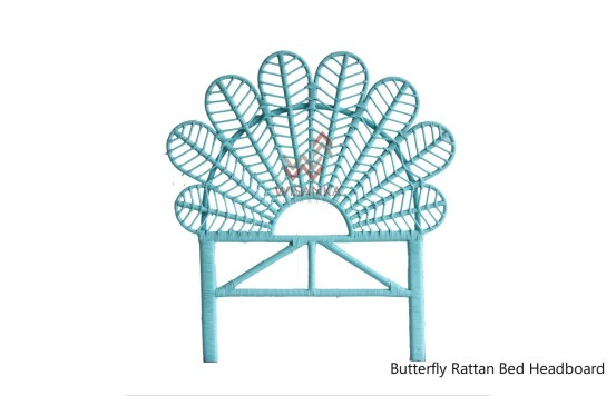 Butterfly Rattan Headboard
