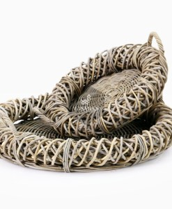 Tora Rattan Tray Set of 2