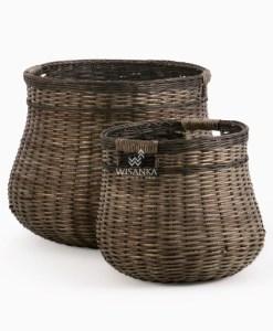 Dabo Rattan Basket