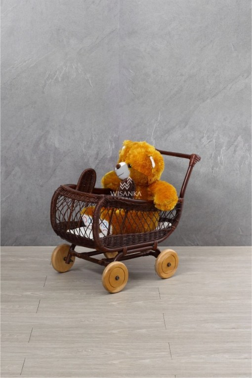 Bobo Rattan Doll Pram