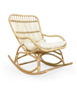 莫奈藤条摇椅自然色