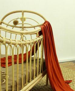 Rainbow rattan baby crib