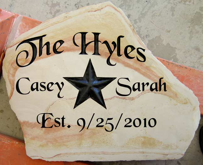 Family Name Signs Engraved In Stone Natural Rock Designs