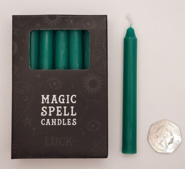 Candles-Green-Luck