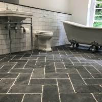 Slate herringbone grey tiles and flooring