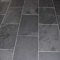 Mountain black slate tiles