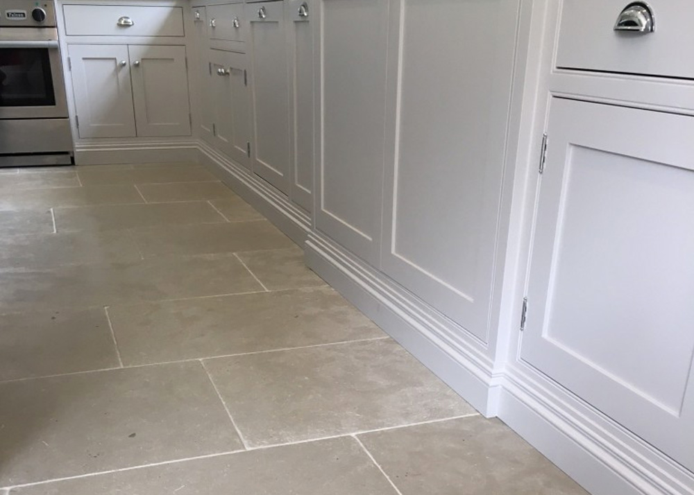 stone kitchen flooring lamps limestone is proving more and popular for a floor paris grey tiles