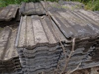 Old reclaimed roof slates and tiles