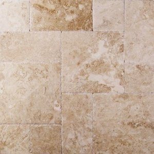 Cappuccino Marble Tile French Pattern Brushed Chiseled