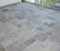 Silver French Pattern Travertine Tile | Natural Stone US