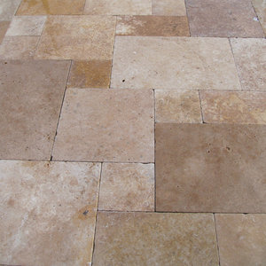 Tuscany Blend Travertine Paver for Sale San Jose French Pattern