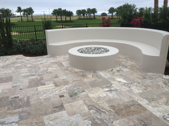 Philadelphia Travertine Pavers Tumbled French Pattern